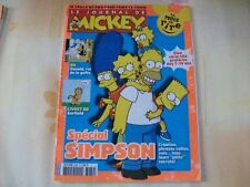 JOURNAL DE MICKEY N°3069 13 AVRIL 2011 SPECIAL SIMPSON LE MOIS DU RIRE  A6