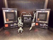 2 Haut parleurs speakers amplifier SONY APM-007AV 1980 80's