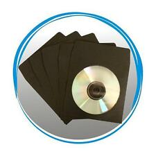 400 BLACK CD DVD R Paper Sleeve Envelope with Window & Flap 100g
