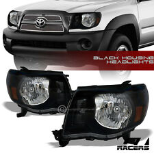 FOR 2005-2011 TOYOTA TACOMA BLACK CLEAR HEADLIGHTS CORNER SIGNAL LAMPS AMBER NB