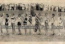 "1928 Bathing Beauties ""Pageant of Pulchritude"" Galveston TX Panoramic Photo 41"""