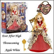 NUOVO EVER AFTER HIGH thronecoming APPLE BIANCO E ACCESSORI Rosso & gold dress