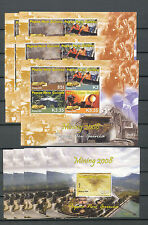 PAPUA NEW GUINEA PNG 2008 Gold Mining Refinery Two Types MNH(10 Items)Pap137