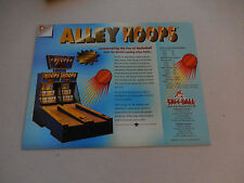 SKEE BALL  ALLEY HOOPS   FLYER     arcade game ad