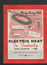 Niagara Hudson Central New York Power Corporation 1940 Electric Heat in Industry
