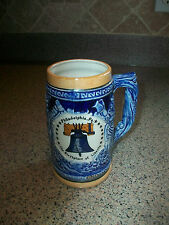VINTAGE PHILADELPHIA, PA. LIBERTY BELL ~ SOUVENIR BEER STEIN - MADE IN JAPAN?