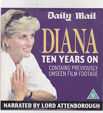 DIANA TEN YEARS ON NARRATED BY LORD ATTENBOROUGH  DAILY MAIL DVD VIDEO