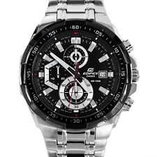 Casio EFR-539 1av chronograph mens watch BLACK DIAL STEEL CHAIN..IMPORTED ITEM