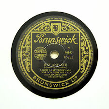 """LOUIS ARMSTRONG """"The Whiffenpoof Song / Bye And Bye"""" BRUNSWICK 05235 [78 RPM]"""