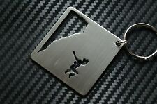 BASE JUMPING 2 PARACHUTING WINGSUIT FLYING CLIFF EXTREME SPORT Keyring Keychain