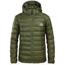 Men Lightweight Duck Down Puffer Jacket Parka Outdoor Hiking Travel Coat Green S