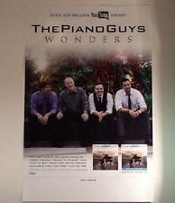 """The Piano Guys Promo Poster 11""""x17"""" Ad For New LP CD Wonders, 500M YouTube Hits!"""