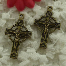 free ship 50 pieces bronze plated cross charms 33x19mm #3009