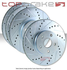 FRONT+REAR SET TOPBRAKES Performance Drilled Slotted Brake Rotors TBS20532