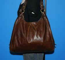 "COACH  Brown ""Maggie"" Large Brown Leather Hobo Satchel Shoulder Purse Bag 13897"