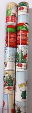 NEW PEANUTS Christmas Gift Wrap Paper 2 Rolls 40 Sq Ft