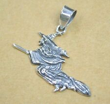 WITCH LOVELY PENDANT 925 STERLING SILVER CHARM NECKLACE ONCE UPON A TIME WOMEN'S