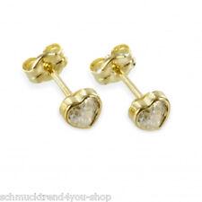 Herz Ohrstecker Gold 333 5,5 mm Ohrringe Zirkonia Damen mehr Schmuck im Shop ❤❤❤