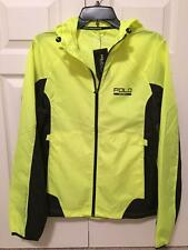 NWT Polo Ralf Lauren Sport Man Performance Hooded Raincoat SZ S 100% polyester