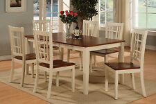 5pc Nicoli Kitchen Dining Table + 4 wood seat chairs in buttermilk cherry  NEW