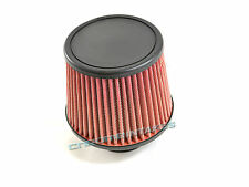 "RED UNIVERSAL 3"" FLAT TOP AIR FILTER FOR HONDA/ACURA SHORT/COLD AIR INTAKE"