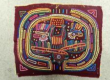 Art Mola Panama Bird Cloth Hand Stitched Traditional Costume Kuna Indian Tribe