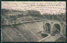Taranto Città Ponte Girevole STRAPPINO ABRASA cartolina XB0428