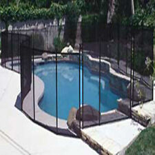 Eskott Safety Fence Black 4'X10' Section For Inground Swimming Pool Mesh