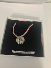 Golf Ball PP-SP06 Pewter Pendant on a PINK CORD Necklace
