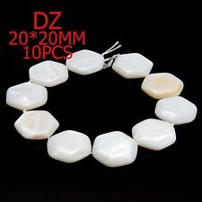 z002172 Natural White Mother Of Pearl Shell Loose Charms Beads 10pcs DIY Jewelry