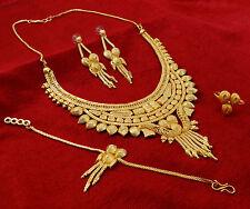 ethnisch Indisch traditionell 18k vergoldet 4 Pc Halskette Set Designer-Schmuck