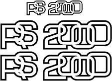 RS 2000 stickers. 2 Large 1 Small