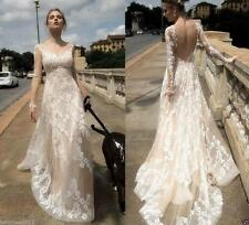2016 New Lace Wedding Dress Bridal Gowns Custom Size 6+8+10+12+14+16++