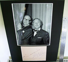 ERIC MORECAMBE & ERNIE WISE AUTHENTIC SIGNED VERY LARGE AUTOGRAPH DISPLAY UACC