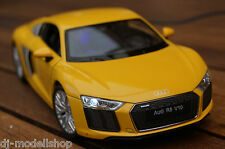 2015 AUDI R8 MIT LED-BELEUCHTUNG(XENON) GELB 1:24,NICHT 1:18 WELLY TUNING