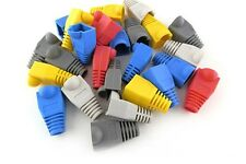 50X RJ45 RJ-45 CAT5 CAT5e Connectors Rubber Boots Network Lan Cable Ends Plugs
