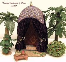 "FONTANINI DEPOSE ITALY 5"" KING'S PURPLE 2PC NATIVITY VILLAGE TENT 55569 NIB"