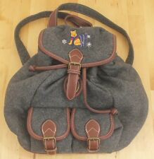 Vintage Disney Store Winnie The Pooh Winter Embroidered Wool Backpack Bag