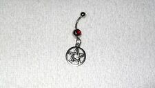 Satanic Pentagram Charm Design Belly Button Navel Ring Body Jewelry Piercing