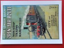 POSTCARD  ADVERTISING - NORTH LONDON RLY - NON STOP TRAINS FROM HAMPSTEAD