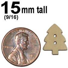 50x ___ 15mm Christmas tree wood button scrapbooking cutout wood shape