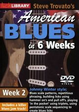 LICK LIBRARY Steve Trovatos AMERICAN BLUES GUITAR in 6 Weeks Johnny Winter DVD 2