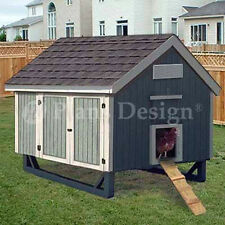 4'x6' Gable Roof Style Chicken Coop Plans, 90406MG