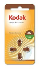 4 Pack Kodak Hearing Aid Battery Size 312 (PR41, K312ZA) 1.45V Exp 03/2017