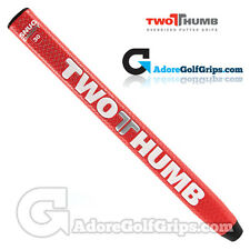2 Thumb Snug Daddy 30 medie Putter Grip-Rosso / Bianco / Argento + Nastro libero