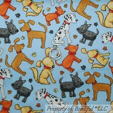 BonEful Fabric FQ Cotton Quilt Flannel Dog Paw Breed Toy Cartoon Dalmatian Print