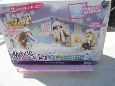Moxie Girlz Magic Snow Cabin Donor Dollhouse Roof Icicles Chimney Cut out Side