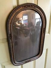 Antique Art Deco  Convex Bubble Glass Photo Frame