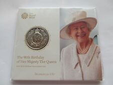Royal Mint 2016 £5 coin  P/pack- Queen Elizabeth's II 90th Birthday    {REDUCED}