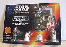 Kenner Star Wars POTF Diecast 4 Pack Figurines C-3PO R2-D2 Leia Obi-Wan MIP